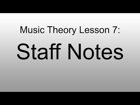 Music Theory Lesson 7 - Notes on the Staff