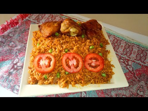 Jollof Rice and Chicken Recipe: Easy Party Jollof Rice, How to Make- Christmas Inspired