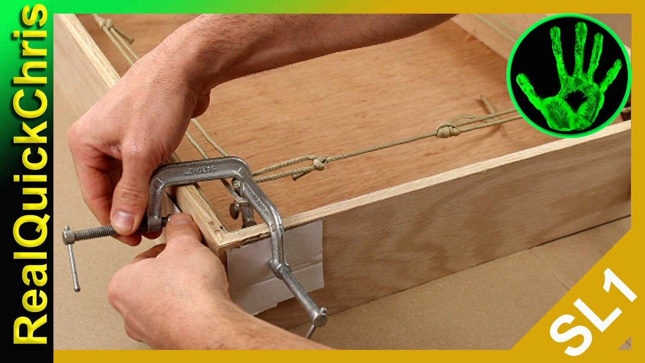 frame and box clamp c clamps and rope