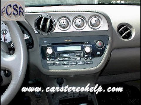 acura rsx car audio - stereo and cd removal