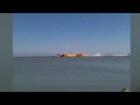 Video shows plane's moment of impact