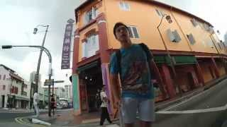 Action cam Video Singapore Club Street and Chinatown Back Alleys on Gotway MCM2 Electric Unicycle