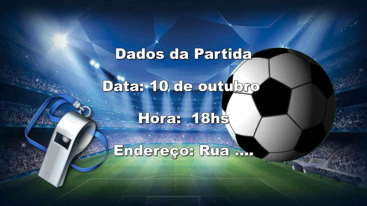 Convite Virtual Futebol Youtube