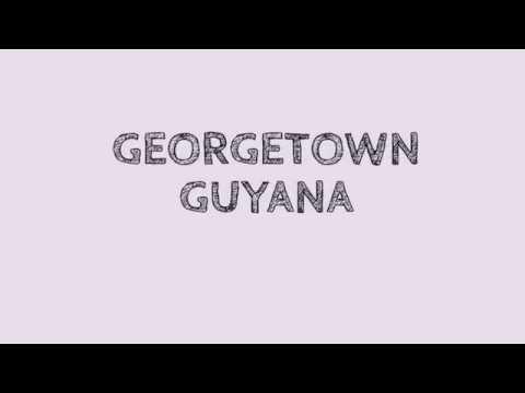 GUYANA - Beautiful Full Moon In Georgetown Guyana 2015