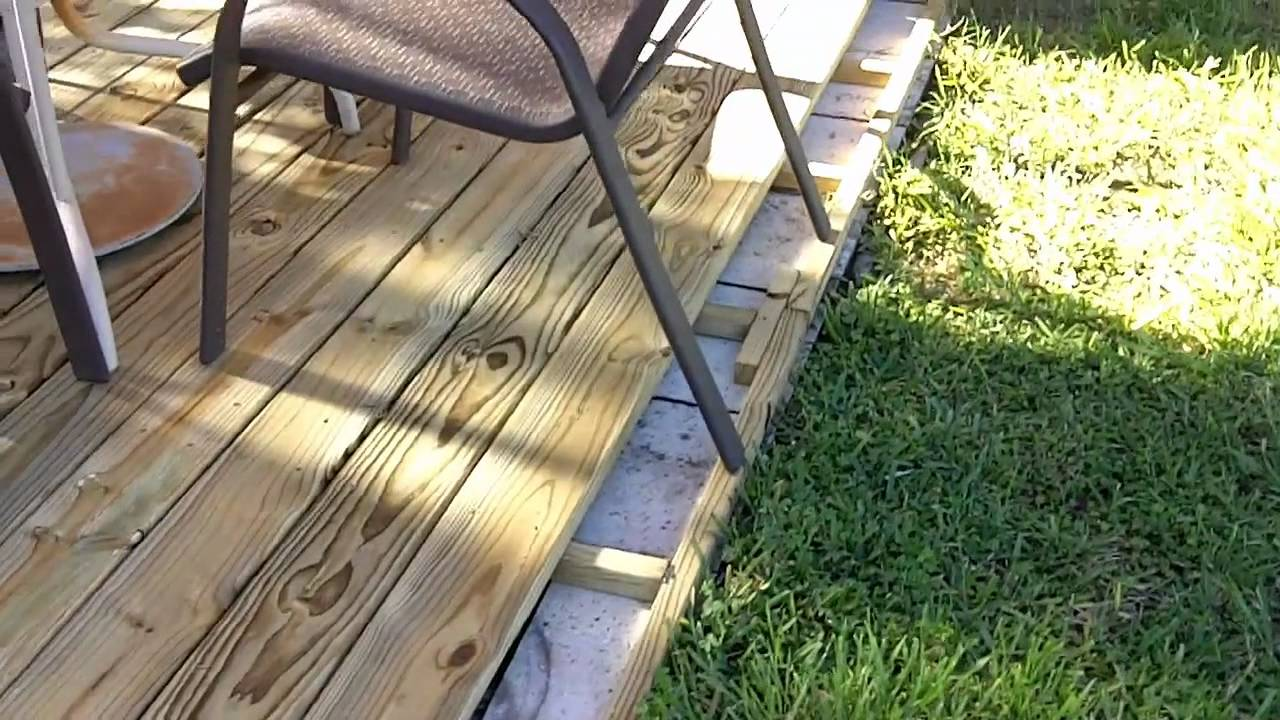 Deck build march youtube for How to build an outside deck