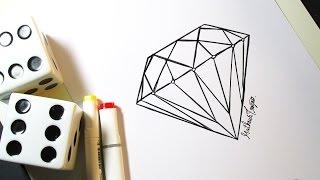 Como Desenhar Diamante (Facil)