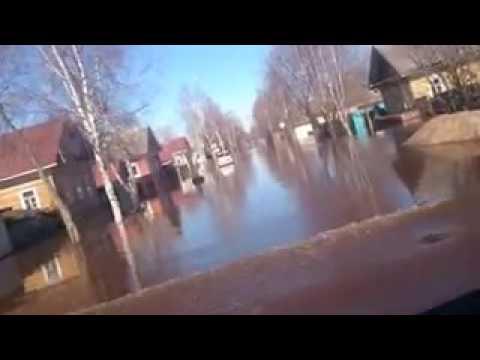 Великий Устюг Наводнение 2016 Путешествие через затопленный город на Газели