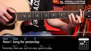 yesterday acordes para guitarra