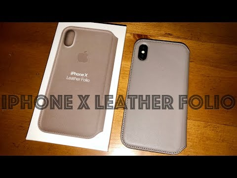 Apple iPhone X Leather Folio Case: Unboxing/First Look