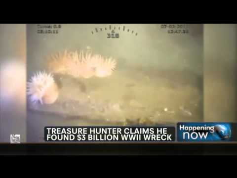 Sunken --$3 BILLION WWII Wreck Found. TREASURE AT SEA.flv