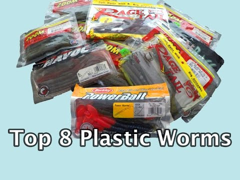 Top 8 Plastic Worms -- Bass Fishing (zoom, Berkley, Strike King)