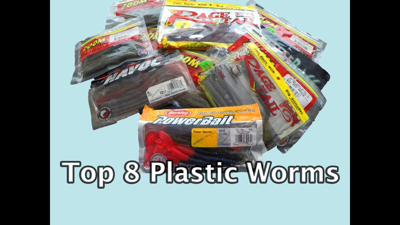 Top 8 plastic worms bass fishing zoom berkley strike for Best plastic worms for bass fishing