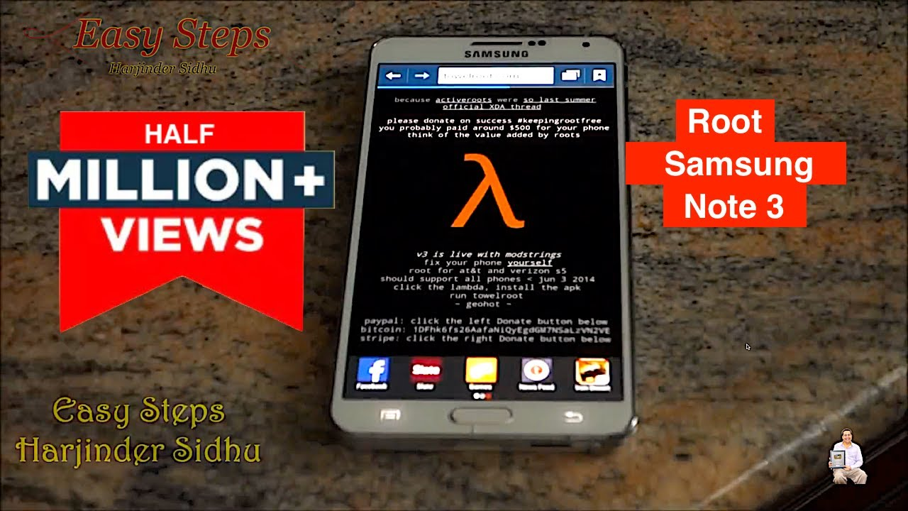 SOLVED - How to Root Samsung Galaxy Note 3 Without Computer | Root With  Towelroot