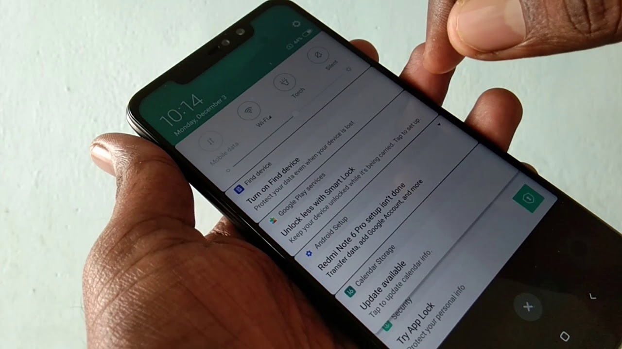 How to change font size in Redmi Note 6 Pro