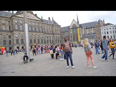 Walking To DAM SQUARE Amsterdam In 4K