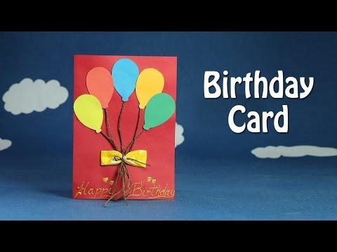 handmade-birthday-card---diy-birthday-balloon-card,-easy-crafts