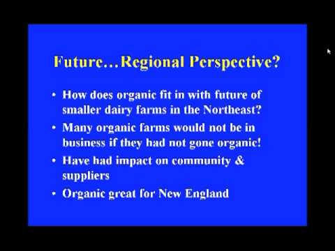The Economics of Organic Dairy Farming in New England