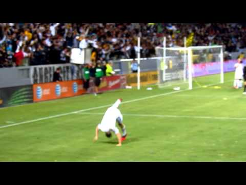 LA Galaxy v Seattle Sounders - Robbie Keane taps in goal and celebrates