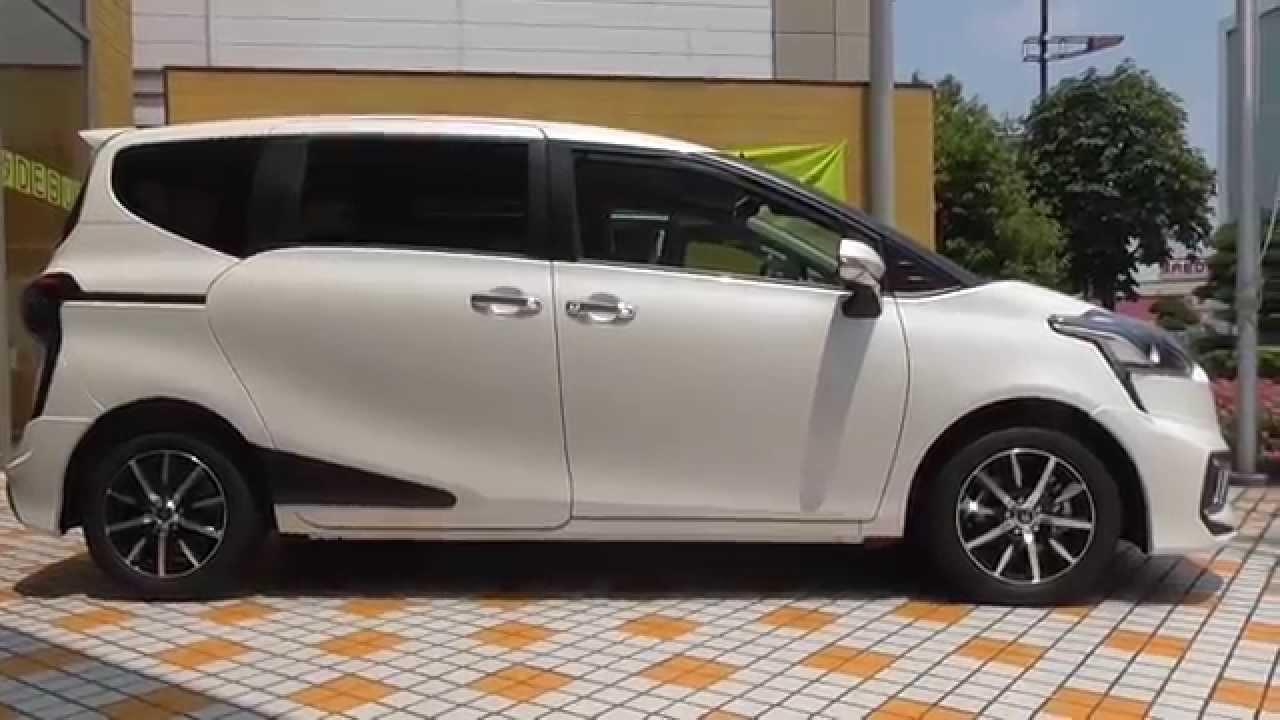 TOYOTA 新型シエンタ・モデリスタ・エアロキットB(ホワイトパールクリスタルシャイン)実車 , YouTube