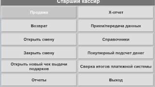 ДОМИНО Торговая касса-Курсы старшего кассира-Главное меню