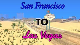 GTA SA | Driving From San Francisco to Las Vegas