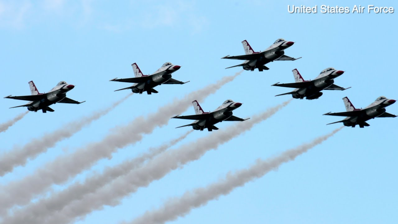 Here's where you can see the Thunderbirds flyover