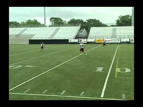 Defensive Back Free Safety Zone Reaction Drill