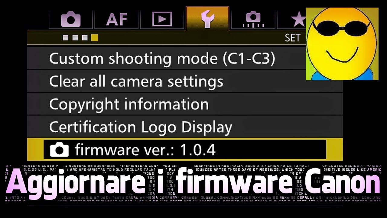 Come aggiornare i firmware di una canon con nykk3 youtube come aggiornare i firmware di una canon con nykk3 1betcityfo Image collections