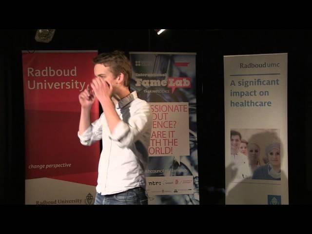 Jeroen van Baar, winner Famelab Nijmegen 2015
