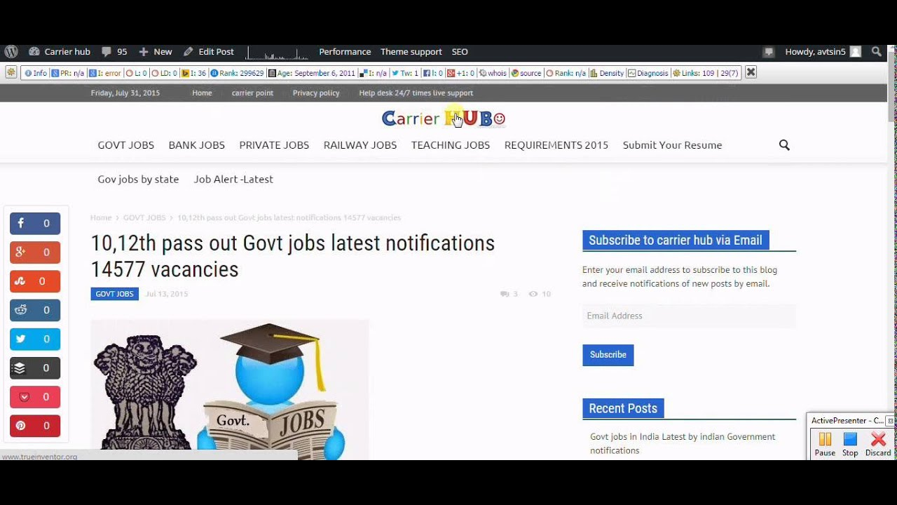 how to th pass out govt jobs latest notifications