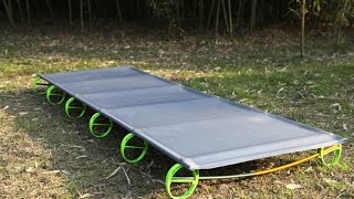 Складная походная кровать BRS(Полное название: BRS-MC1 Размеры В сложенном состоянии: 40см х 12см В разложенном состоянии: 180см х 58см х 10см Вес:..., 2016-04-13T10:51:15.000Z)