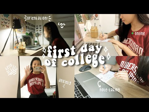 FIRST DAY OF COLLEGE *online Classes* VLoG📚 | Freshie (up Diliman)🌻