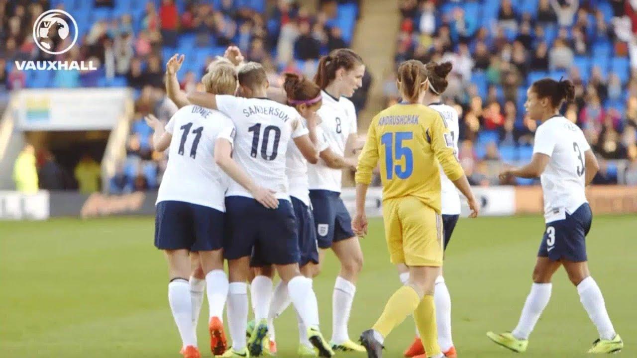 ENGLAND WOMEN VS UKRAINE 4-0: Post match interviews with Mark Sampson, Jade Moore and Natasha Dow...