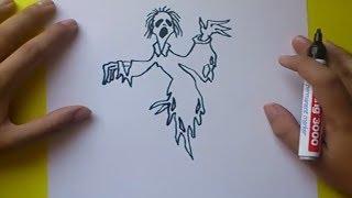 Como dibujar un fantasma paso a paso 2 | How to draw a ghost 2