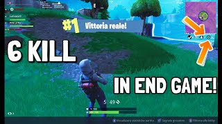 6 KILL IN END GAME! VITTORIA REALE W/PCN - Fortnite ITA