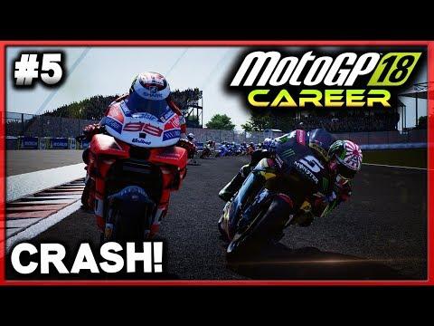 MOTOGP LORENZO CAREER #5 - VINALES CRASHES OUT! | MotoGP 18 Career Mode (MotoGP 2018 Game PS4)