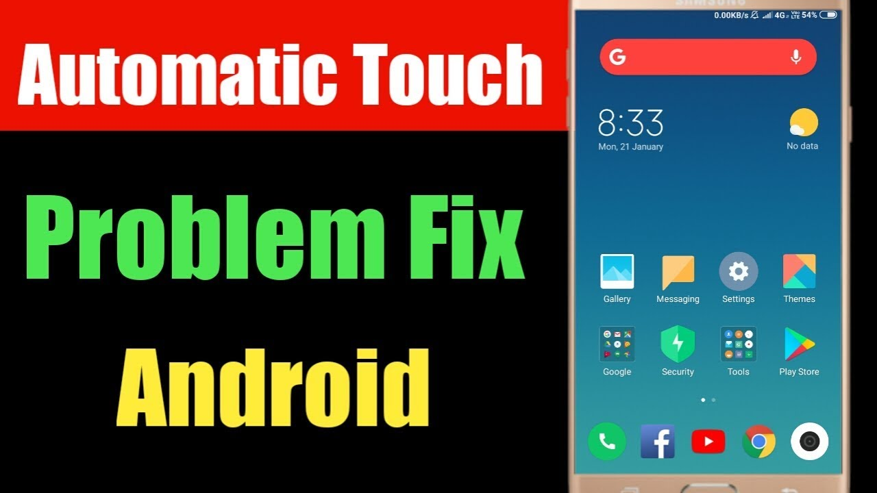 Fix Android Automatic Touch Problem | Solve Ghost Touch Problem Android