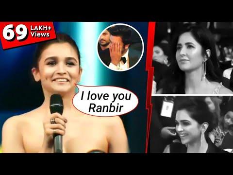 Ex-girlfriends Katerina Kaif, Deepika Padukone REACTION - Alia Bhatt PROPOSED Ranbir live on stage Mp3