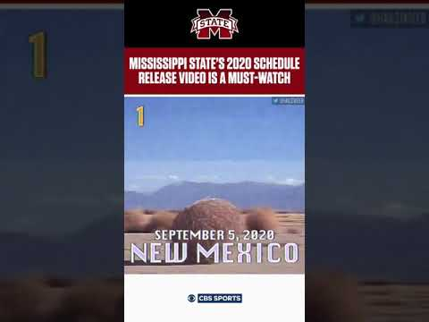 Austin James - Mississippi State football 2020 schedule video