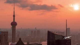 Shanghai, Lujiazui, Aerial Photography Video