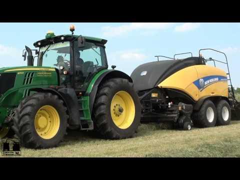 Hay baling with a John Deere 6170R + New Holland BigBaler 1290 / The Bullet Baler