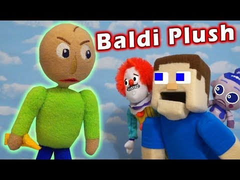BEWARE the BALDI BASICS PLUSH Toy PUPPET STEVE and Hello Neighbor are in for Unboxing Trouble