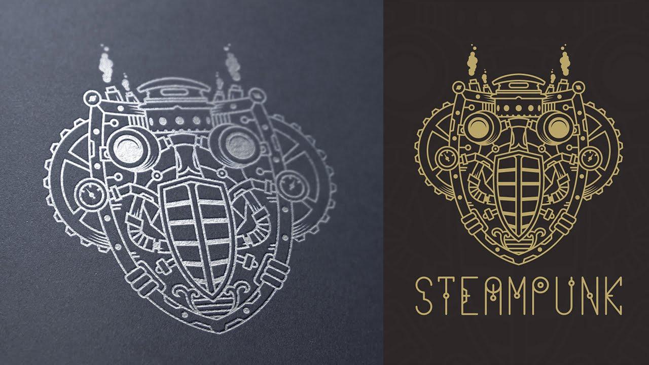 Logo design process illustrator steampunk symbol youtube biocorpaavc