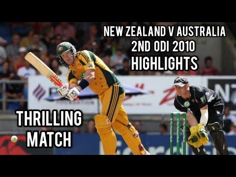 New Zealand V Australia | 2nd ODI 2010 | Highlights | Thrilling Match
