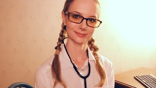 Dr Dmitria Role Play - ASMR Check Up for a Cold (Massage ASMR Tribute)