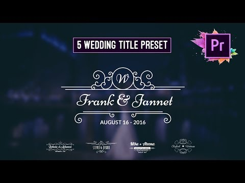 Free Animated Wedding Title Preset | Premiere Pro Motion Graphic