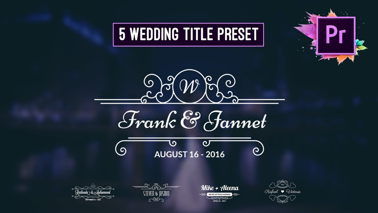 Free Animated Wedding Title Preset Premiere Pro Motion