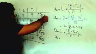 Mediana y cuartiles Distribucion continua Matematicas 1º Bachillerato Academia Usero