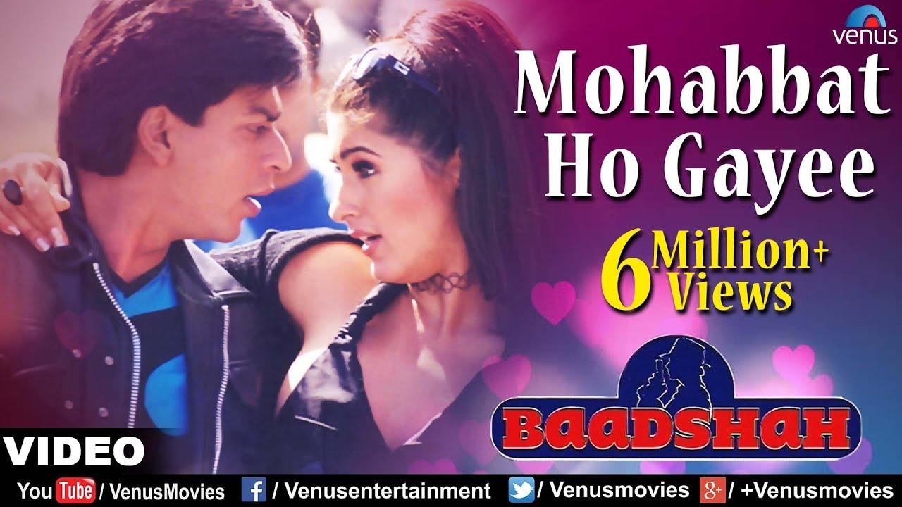 Mohabbat Ho Gayee Full Video Song   Baadshah   Shahrukh Khan, Twinkle  Khanna   Abhijeet & Alka