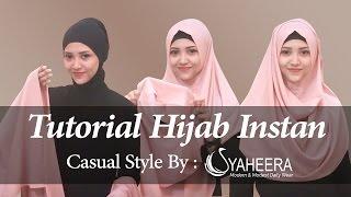 #1 Tutorial Hijab Instan Bergaya Casual By Syaheera